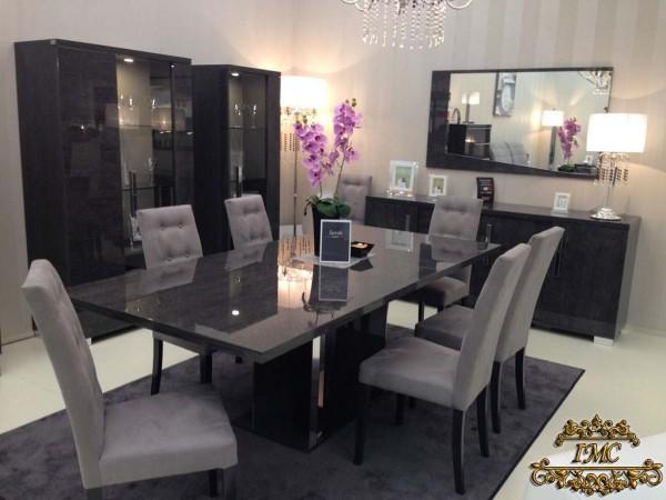Esszimmer – Set SARAH GREY BIRCH, italienische luxus Möbel