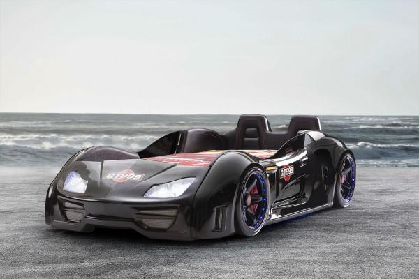 Autobett GT 999 Extreme Schwarz mit Türen + Rücklehne