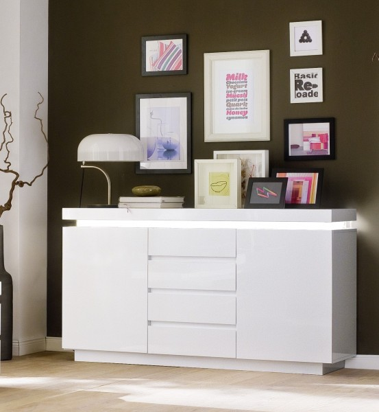 Sideboard RITA I, inkl. LED Farbwechsel Beleuchtung