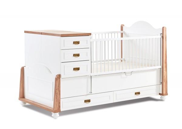 Mitwachsendes Babybett TIFFANY, 80x180cm