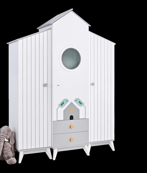Kleiderschrank BIRD HOUSE, 3-türig
