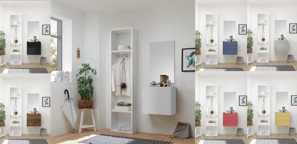 Garderobe INFINITY 3-tlg, 9 Farben