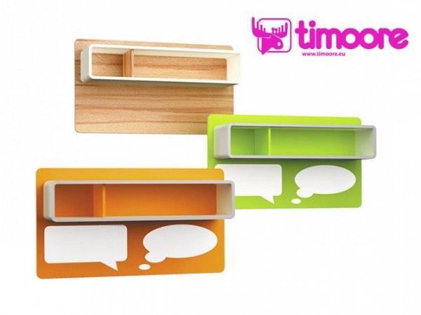Timoore Magnettafel mit Regal in 3 Farben