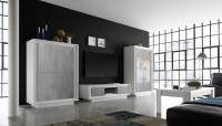 Wohnzimmer ADORATA in Weiß/ Beton