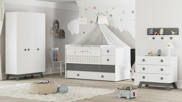 Almila CUTE GREY Babyzimmer, 4-teilig