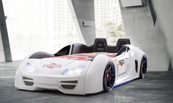 Autobett GT 999 Extreme Weiß mit Türen + Rücklehne