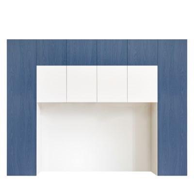 Bettbrücke FRELI blau/ weiß
