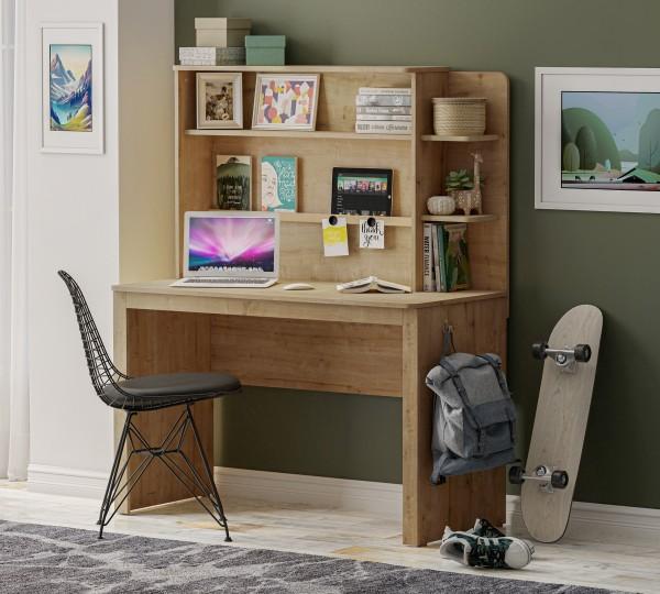 Cilek LINE Schreibtisch mit Aufsatz, mocha