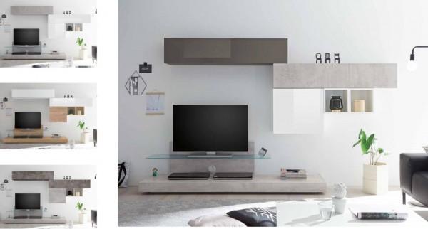 Wohnwand INFINITY 6-tlg, mit TV-Podest
