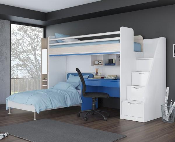 Etagenbett Dreier : Jugendzimmer smart flexi mit etagenbett kombinationsvorshlag lll