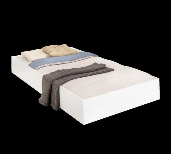Bettkasten / Gästebett / Zusatzbett WHITE, 90x190 cm