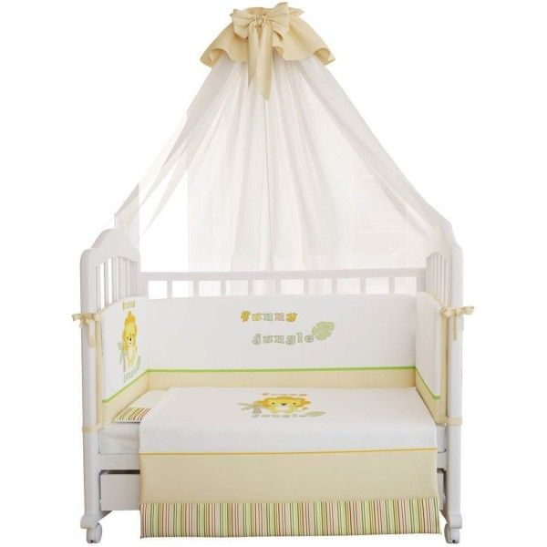 Babybett Bettwäsche URWALD, 120x60cm 3-teilig
