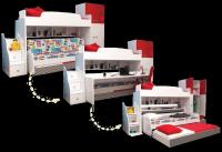 Multimo TWIN BUNK SET Etagenbett mit Schreibtisch und Schrank