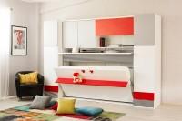 Multimo DIVA NITRO SET, Schrankbett mit Schreibtisch und Schränke