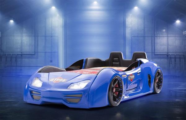 Autobett GT 999 Extreme Blau mit Türen + Rücklehne