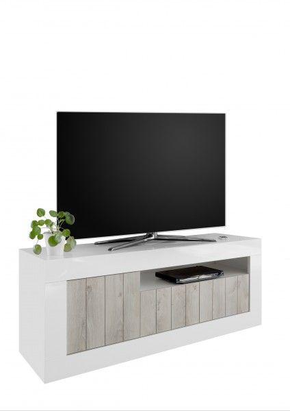 TV-Lowboard LEONELLO, Pinie Weiß