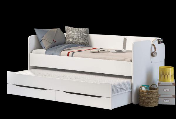 Cilek STUDIO Bett mit Ausziehbett und Bettkasten, 90x200 cm