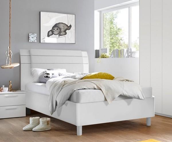 Bett FRELI weiß/ grau