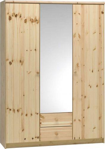alex kleiderschrank 2 holz 1 spiegelt r in freiburg im. Black Bedroom Furniture Sets. Home Design Ideas