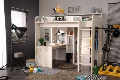 Hochbett Higher Mit Kleiderschrank Und Schreibtisch Ebay