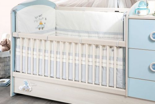 cilek baby boy mitwachsendes babybett bis 160cm ebay. Black Bedroom Furniture Sets. Home Design Ideas