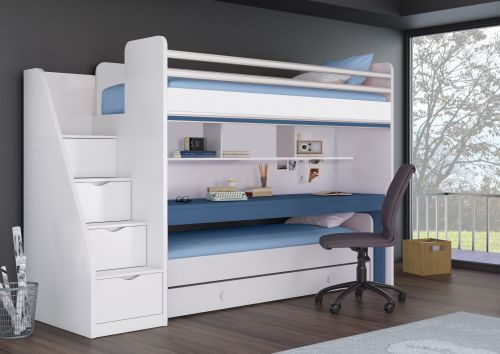 Kleines Etagenbett : Etagenbett smart oxford mit schreibtisch und zusatzbett