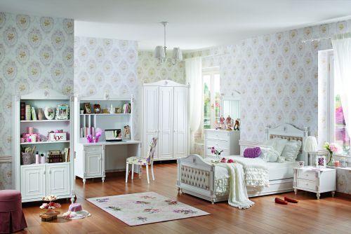 jugendbett rose mit unterbett ebay. Black Bedroom Furniture Sets. Home Design Ideas